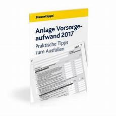 anlage vorsorgeaufwand 2017 anlage vorsorgeaufwand 2017 praktische tipps zum ausf 252 llen