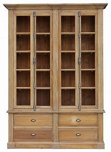 shop houzz kathy kuo home country reclaimed double bookcase bookcases