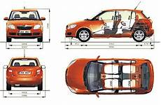 2007 Skoda Fabia Ii 5j Hatchback Blueprints Free Outlines