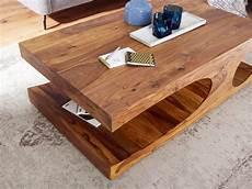 Couchtisch Massiv Holz Sheesham 118 Cm Breit Wohnzimmer