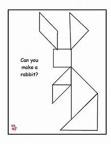 Tangram Kinder Malvorlagen Easy Rabbit Tangram Printable Kindergarten Math Tangram
