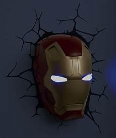 avengers 3d fx deco led light ironman mask wall decoration new ebay