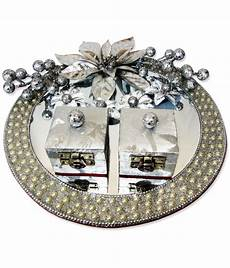 wedding ring plate engagement plate decoration blue lays covered oranges plate decoration