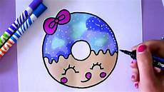 how to draw a cartoon donut easy drawing for kids youtube
