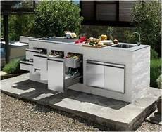 outdoor küche bauen outdoor k 252 che insel gartenideen cocina exterior