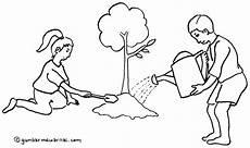 Mewarnai Gambar Menjaga Kelestarian Lingkungan Sketsa