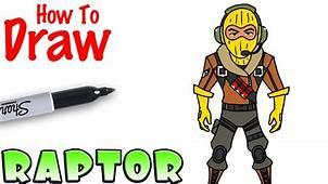 How To Draw Raptor  Fortnite YouTube