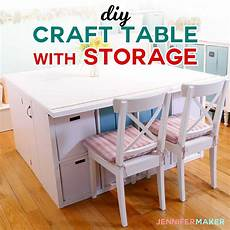 diy craft table with storage my ikea hack maker