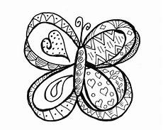 butterfly doodle coloring page