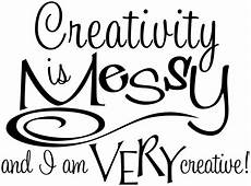 wall decal quot creativity is quot vinyl decal for art