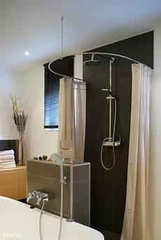 duschvorhangstange rund duschvorhangstange gebogen in rund oder oval