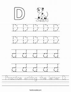 letter d worksheets 24203 practice writing the letter d worksheet twisty noodle