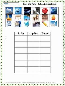 solid liquid gas worksheet homeschooldressage com