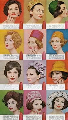 50s hairstyle names vintage lipstick ad 1960s color vintage makeup ads