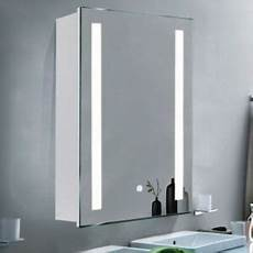 Bathroom Mirror With Shaver Point And Shelf by Bathroom Mirror Cabinet Shelf With Led Lights Illuminated