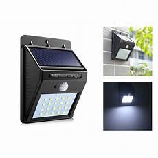 solar l 20 leds street lights pir motion sensor wall