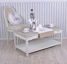 Couchtisch Shabby Chic Wohnzimmertisch Weiss Tisch