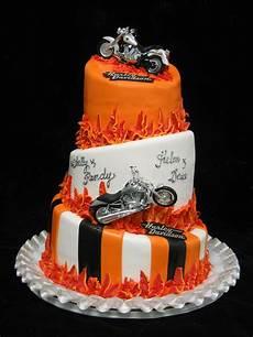 Harley Davidson Wedding Theme by Harley Davidson Themed Wedding Cake My S Cake