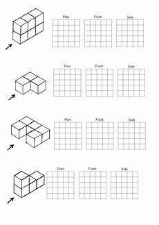 plan and elevation shapes worksheets 3d shapes worksheets isometric drawing