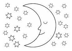 Malvorlage Sterne Und Mond Ausmalbilder Himmel Weltraum Raumfahrt Sonne Mond Sterne