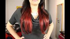 Rotes Ombre Neuer Trend