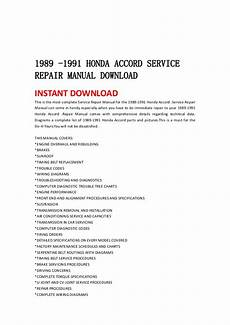how to download repair manuals 1993 honda accord windshield wipe control 1989 1991 honda accord service repair manual download