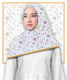 Jilbab Segi Empat Motif Sparkle Printout Shop
