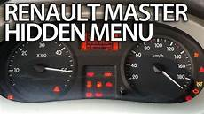 how to enter menu in renault master service test