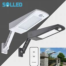 solled led solar powered outdoor lights with remote