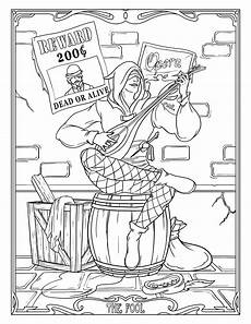 the fool nouveau coloring pages