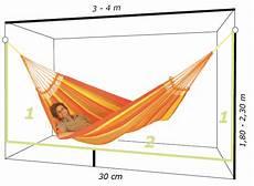come fare un amaca spazio destinato e altezza di sospensione