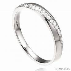 bague alliance femme alliance femme or blanc 18cts diamants ondulation