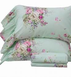 queen s house 4 piece shabby green bed sheet sets cotton