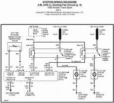1992 Chevy 10 Pulse Generator Wiring Diagram by 1992 Pontiac Trans Sport 3 8l Vin L Cooling Fan Circuit