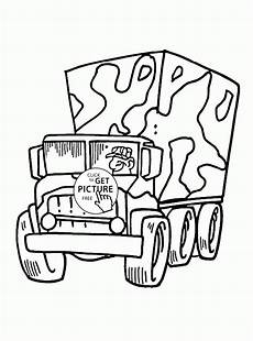 army truck colouring pages 16518 truck coloring page for transportation coloring pages printables free