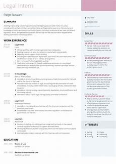 legal intern resume sles and templates visualcv