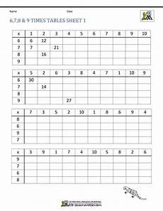 multiplication drill sheets 3rd grade