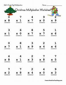 math single digit multiplication worksheet worksheets page 2 of 3 teaching