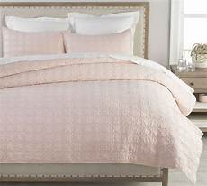 soft rose belgian flax linen trellis quilt sham pottery barn in 2020 quilted sham pink
