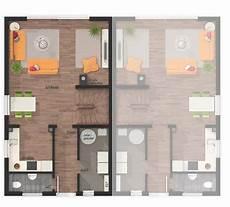 Moderne Doppelhäuser Grundrisse - das doppelhaus mainz 128 modern grundriss erdgeschoss