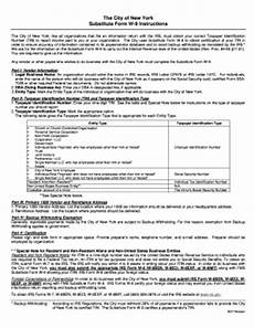 city of new york substitute form w 9 instructions fill online printable fillable blank