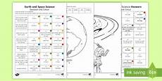 science worksheets year 3 12475 year 3 earth and space science questions and colouring worksheet