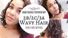 curly methode produkte hair refresh tutorial 2b 2c 3a wavy hair using the