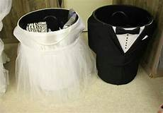 bridal shower wishing well diy trash can and groom