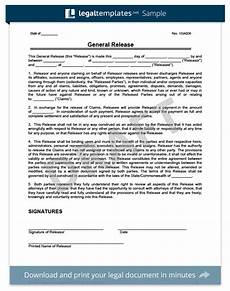 free release of liability form sle waiver form legal templates