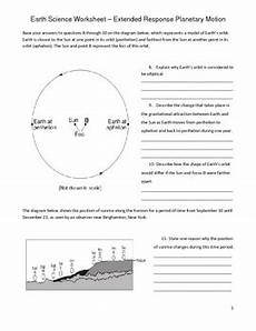 earth science worksheets doc 12173 high school earth science worksheet rotation and revolution tpt