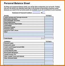personal balance sheet exle authorization letter pdf