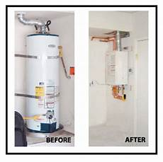 tankless water heater saves energy money and is green