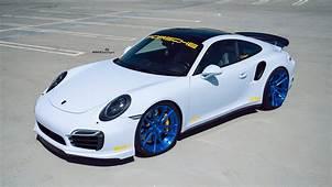 White Porsche 991 Turbo  ADV52 MV2 SL Series Wheels In