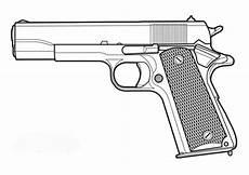 ausmalbilder zum drucken malvorlage pistole kostenlos 1